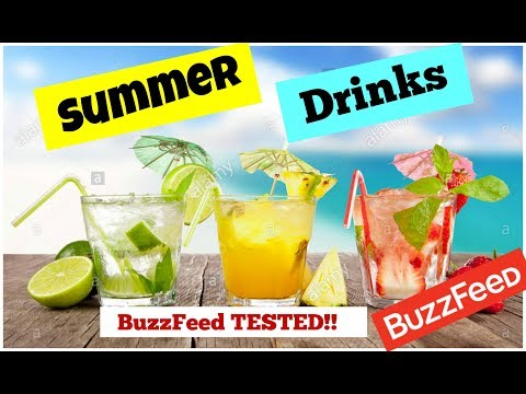 BUZZFEED INSPIRED SUMMER 🍹DRINKS - ALCOHOLIC 🍹 AND NON ALCOHOLIC DRINK 🍹 RECIPES!!!