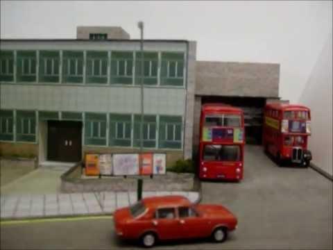 Brixton bus garage in 1/76 scale
