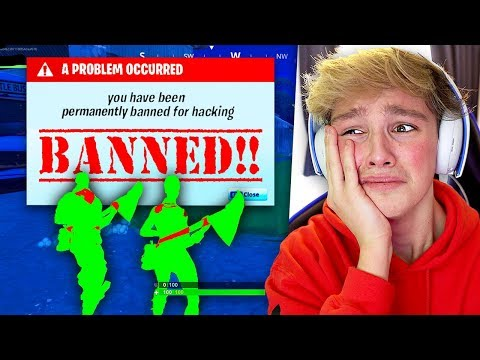 Kid gets BANNED from Fortnite for Hacking... [MUST WATCH]