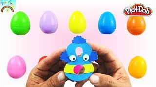 Funny Play Doh Numbers  1-10 / Colors Surprise eggs Opening for kids