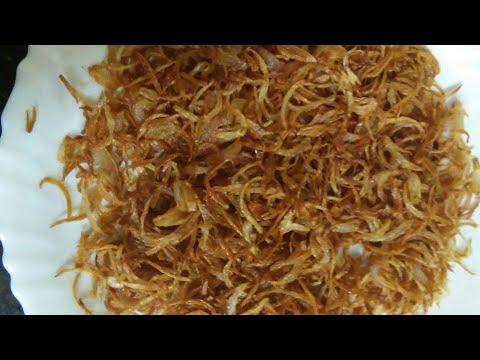 How to make brown onions for korma and biryaani