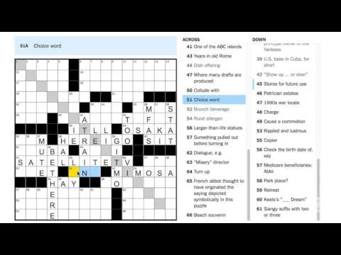 August 25, 2016 New York Times Crossword by Andrew Zhou