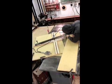 Oval/elliptical Makita router jig, MDF form making for lamintaed bending.