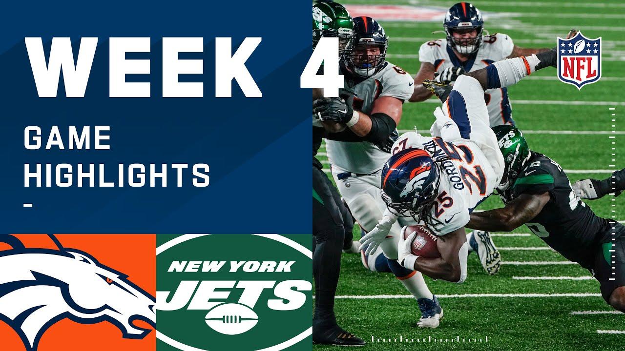 Broncos vs. Jets Week 4 Highlights | NFL 2020