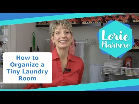 How to Organize a Tiny Laundry Room (and Install Elfa Shelving) | Clutter Video Tip