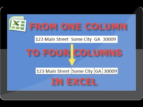 How To Separate Addresses In Excel From One Column To Four