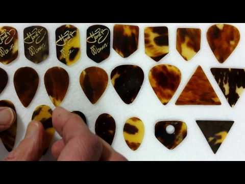 Vintage Guitar Picks - 20.2 U.K. Genuine Tortoise Shell