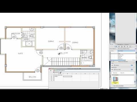 RV - 011 - Calculo de Areas en Vectorworks