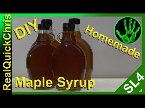 how to make maple syrup the homemade way