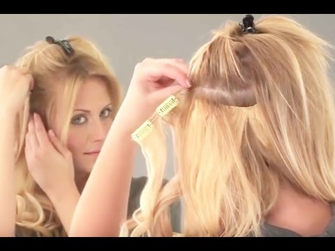 Clip-In Hair Extensions Tutorial- How To Apply LOX 5 Piece