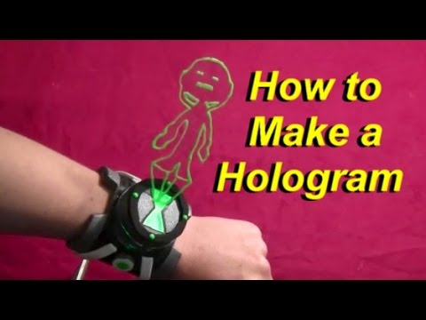 How to Make a Hologram for Cosplay (Ben 10 Omnitrix Part 2)