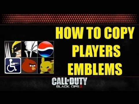 How to copy an emblem PS3/Xbox