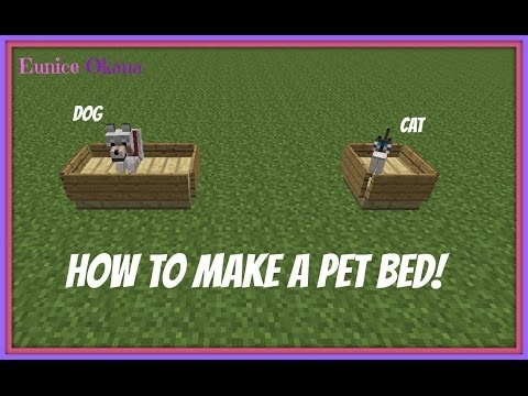 Minecraft - How to Make a Bed of Cat or Dog [DECOR]