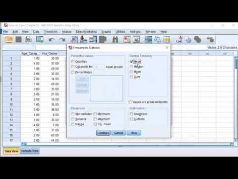 SPSS - Mean, Median, Mode, Standard Deviation & Range
