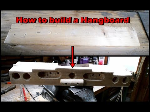 How to build a Hangboard - An inspirational Video