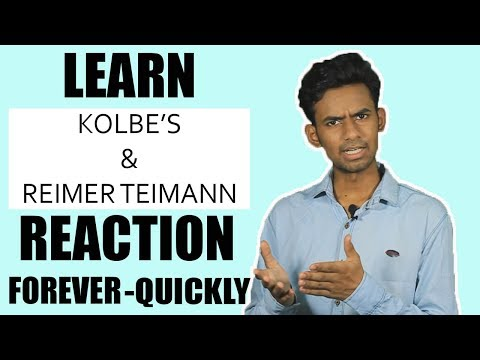 SUPER TRICK TO LEARN ORGANIC CHEMISTRY REACTIONS | Kolbe's and Reimer Teimann Rxn
