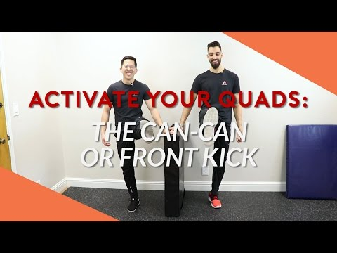 Strengthen weak quads / thigh muscles with this simple hip flexion exercise