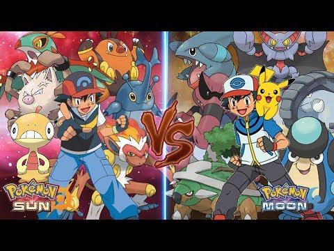 Pokemon Sun and Moon: Ash Vs Ash (Ground Type Vs Fighting