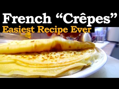 How to make French Crepes, with the mighty