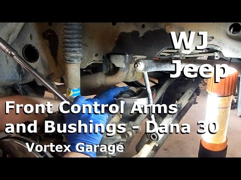 Jeep WJ Maintenance - Part 3: Front Control Arms - Dana 30 -   Vortex Garage Ep. 6