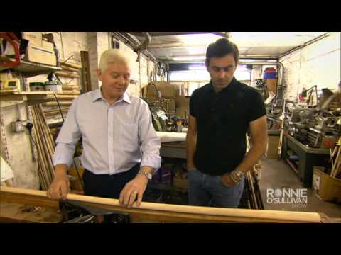 How Parris Cues are made including Ronnie O'Sullivan's Cue