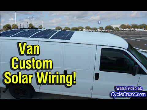 Custom Solar Panel Wiring on Bug Out Van | Bug Out Van Build