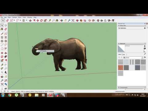 How to make  Photo Montage (Fake picture ) with SketchUp and Carrara 8