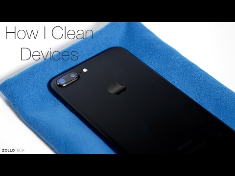 How I Clean My iPhone, Android Phones, iPad, TV and more