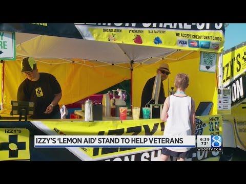 Izzy's Lemon Aid stand to help veterans