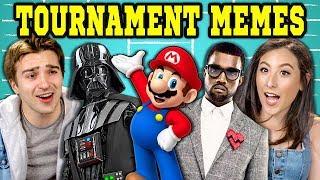 COLLEGE KIDS REACT TO VIRAL BRACKET MEMES (Kanye West, Disney, Nintendo)
