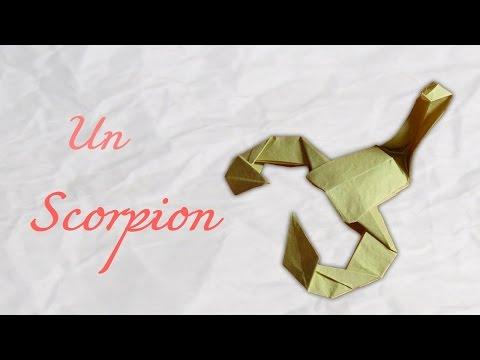 Origami ! Un scorpion en papier - Scropio in paper [ HD ]