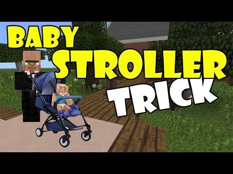 BABY STROLLER TRICK | Minecraft PE (Pocket Edition) MCPE