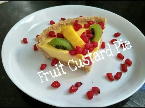 How To Make Fruit Custard Pie Recipe/No Bake Custard Pie/Fresh Fruit Tart by Somyaskitchen#265