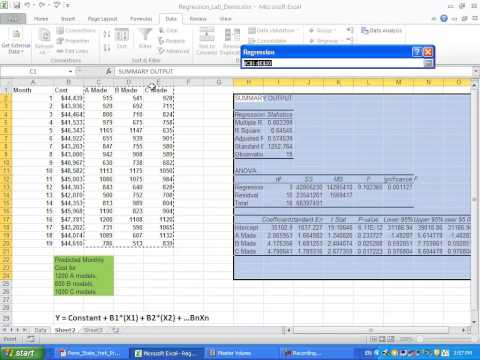 Using Multiple Regression in Excel for Predictive Analysis