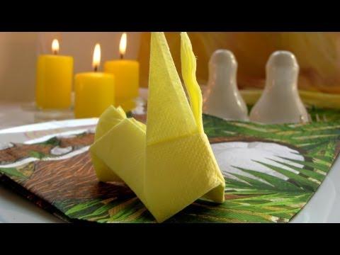 Origami Rabbit (Bunny)🐰Table Napkin Folding Tutorial