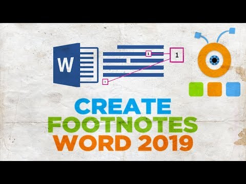 How to Create Footnotes in Word 2019   How to Add Footnote in Word 2016