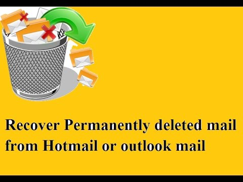How to recover permanently deleted mail from hotmail and outlook 100% working hindi/urdu