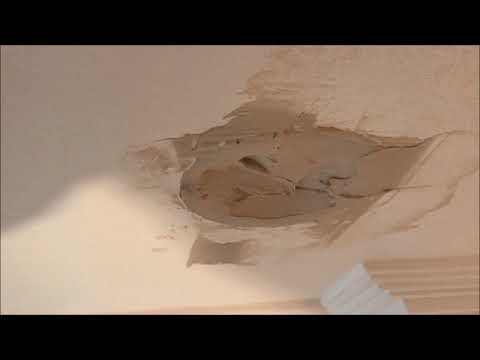 Patching a Hole in the Ceiling where a Down light was