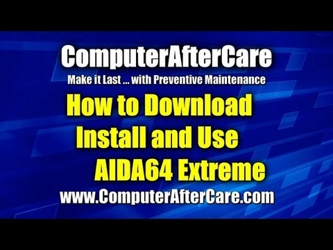 Check Computer Performance With AIDA64 Extreme