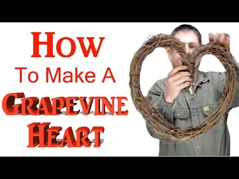 How to make a Grapevine Heart