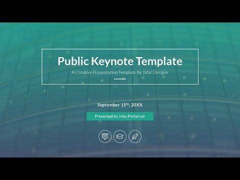 Public Presentation Keynote Template