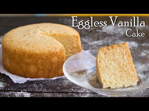 Eggless Vanilla Sponge Cake | No Oven | In Pressure Cooker | No Condensed Milk ~ The Terrace Kitchen