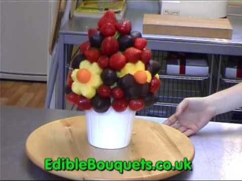 Edible Bouquets - Edible fruit bouquets and arrangements. Hand made fresh fruit gift baskets.