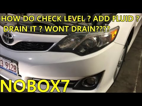 Toyota camry Transmission fluid change and level check (Information)