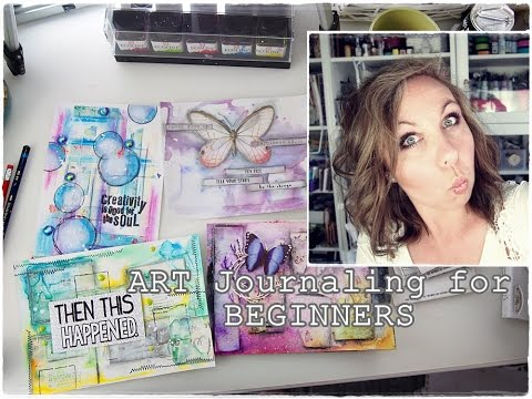 How to START? How to Break A Blank Page? Mixed Media Art Journaling part 3 ♡ Maremi's Small Art ♡