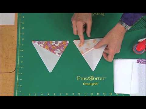 Love of Quilting: How to Cut Pre-Pieced 60 Degree Triangles from Strip Sets