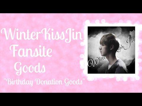 WinterKissJin Fansite Goods (pt.1) Unboxing