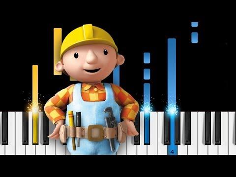 Bob the Builder - Theme Song - EASY Piano Tutorial