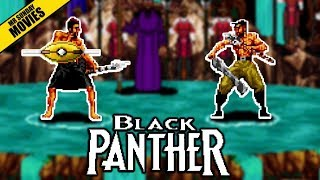 Erik Killmonger VS Black Panther - 16 Bit Scenes