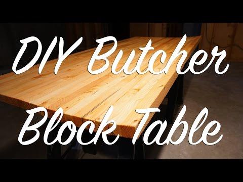 Custom DIY Butcher Block Table Top